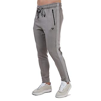 Men's True Religion Tape Jog Pants in Grey