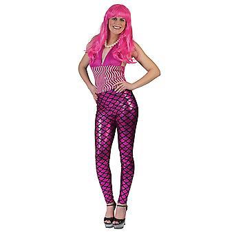 Legging sirène rose femme