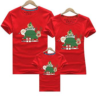 Merry Christmas Family Matching Moeder Baby T-shirt