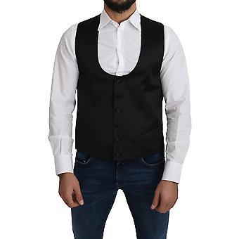 Dolce & Gabbana 100% Silk Formal Waistcoat - TSH5040