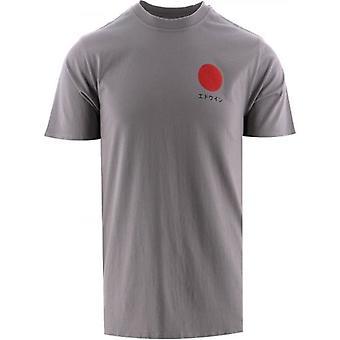 Edwin Frost Grey Japanese Sun T-Shirt