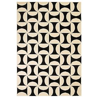 vidaXL Rug Modern Geometric Pattern 80 x 150 cm Beige/Black