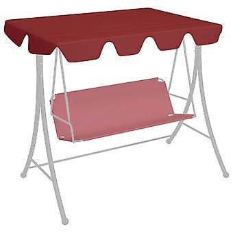 vidaXL Spare roof for garden swing wine red 192x147 cm 270 g/m2