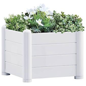 vidaXL ガーデン レイズベッド PP ホワイト 43x43x35 cm