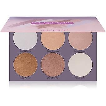 SHANY Brilliant Beauty 6-Color Highlighter Palette - Six Long-Lasting and Illuminating Face Powders to Enhance All Skin Tones