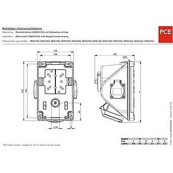 PCE 96061552 CEE vägguttag 16 A 5-stifts 400 V 1 st