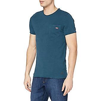 Mustang tvättad crew-neck T-shirt, Mittelblau, XXL Herr