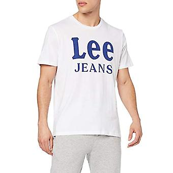 Lee Jeans Tee T-Shirt, Bright White Lj, X-Large Man