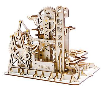 4 Kinds Marble Run DIY Waterwheel Wooden Model Building Block Kits Assembly Toy Gift for Children Adult Dropship