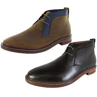 Cole Haan Mens Cambridge Chukka Lace Up Zapatos de botas de cuero