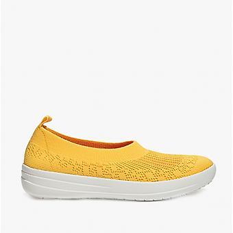 FitFlop Uberknit Slip-on Ballerina Ladies Trænere Sunshine Yellow