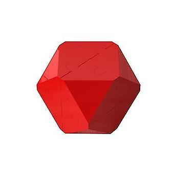 Červená 3D inteligence rubik kostka puzzle stavební bloky x7529