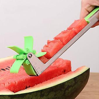 Wassermelone Slicer Cutter Zange Corer Fruit Melone Edelstahl Werkzeuge Wassermelone schneiden erfrischende Wassermelone Würfel Küche