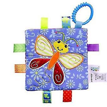 Butterfly newborn infant hand grasping teethers towel, handkerchief toy az2889