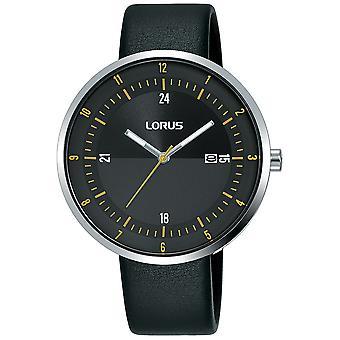 Lorus RH957LX9 Montre robe homme avec grand cadran mince &bracelet en cuir noir