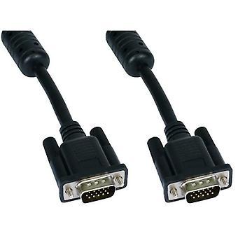 CablesDirect SVGA, 2m, M-M 2M VGA (D-Sub) VGA (D-Sub) Black VGA Cable