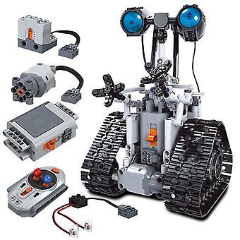 क्रिएटिव आर सी रोबोट उच्च तकनीक इलेक्ट्रॉनिक खिलौने निर्माण ब्लॉक रिमोट कंट्रोल बुद्धिमान रोबोट ईंटों खिलौने बच्चों के बच्चे उपहार के लिए