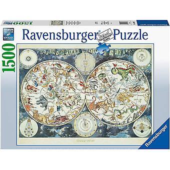 Ravensburger Verdenskart 1500 Stykke Puslespill