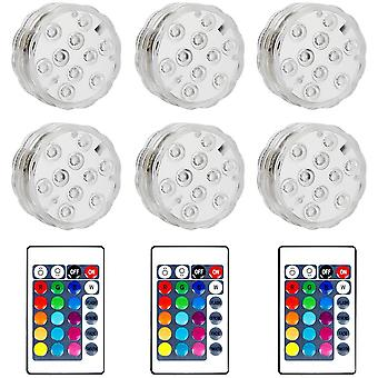 Waterproof Submersible Led Lamps For Jacuzzi, Spa, Pool, Underwater Led Lights With 2 Remote Controls