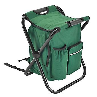 Hot Folding Camping Fishing Chair Stool Portable Backpack Cooler Insulated Picnic Bag Hiking Seat Table Bags Pesca Iscas Tackle Green