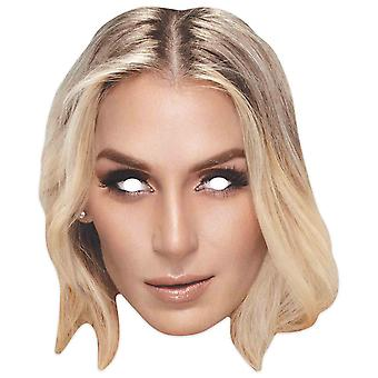 Charlotte Flair WWE Brottare Officiell Singel 2D Card Party Ansiktsmask
