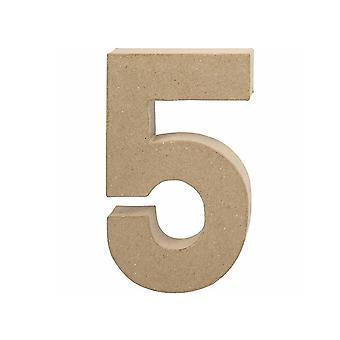 20,5 cm groot papier mache nummer 5 | Mache-vormen van papier | Papier Mache