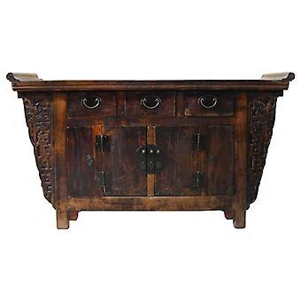 Fin Asianliving Antikk Kinesisk Sidebord Håndskåret W157xD43xH92cm