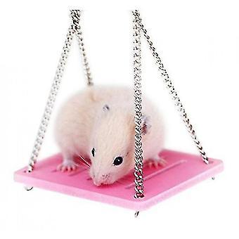 Hamster swing väri ekologinen lauta swing lelu hamsteri lelu hamsteri tarvikkeet lelu (vaaleanpunainen)
