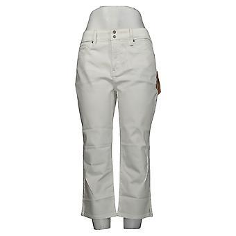 NYDJ Kvinners Jeans Skinny Crop Side Slits - Optisk Hvit A377695