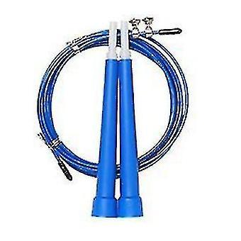 plast håndtak stål ledning hoppe tau voksen vekttap fitness utstyr (BLÅ)