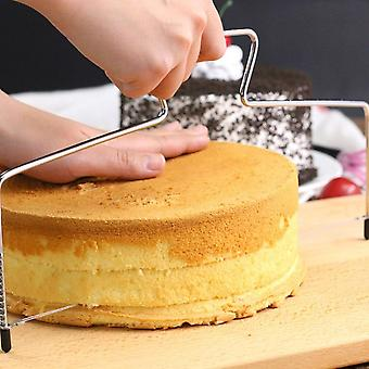 Stainless Steel Cake Cutter, With Double Layer Adjustable Wires, Metal Mold, Cake Decorating Tools