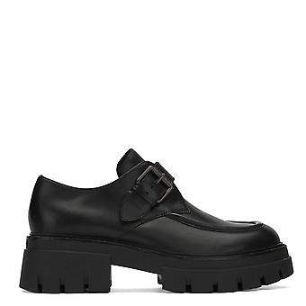 Ash LORD Buckle Brogues Black Leather