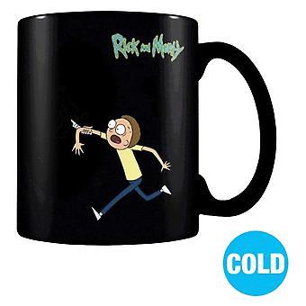 Mug changeant la chaleur portail Morty, Rick