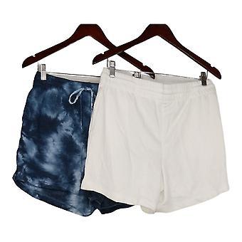 Danskin Women's Shorts Ladies' Soft Active 2-pack White