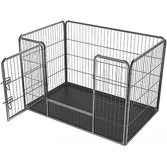 Dog Cage Pet Puppy Metal Playpen Foldable With Removable Plastic Floor