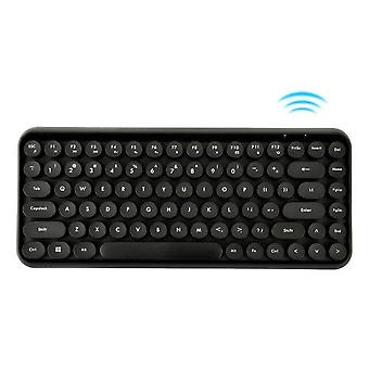 Qwert Wireless 84-tastet Bluetooth-tastatur (sort)