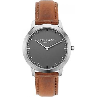 LLarsen (Lars Larsen Brown Genuine Leather) WH135SGBROWN Men's Watch