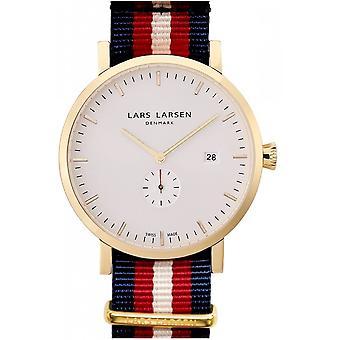 LLarsen (Lars Larsen Tricolour Nylon) 131GWNN Men's Watch