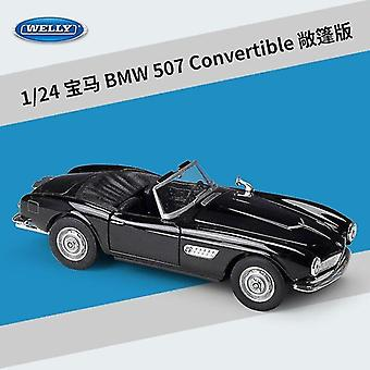Toy cars 1:24 bmw 507 convertible vintage die alloy car model ornaments collection of children's toys black