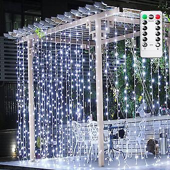 Curtain Fairy Light, 3m X 3m 300 Led Curtain String Lights Usb Powered, With Remote Control And Automatic Timer, Adjustable Brightness, Suitable For O