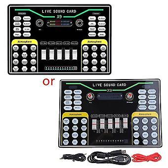 Duální mobilní telefon živé vysílání externí zvukové karty mobilní vysílání osobní zábava hlas