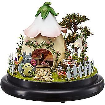 Holz Puppenhaus Diy Glassball Kit mit LED hellgrünen Garten