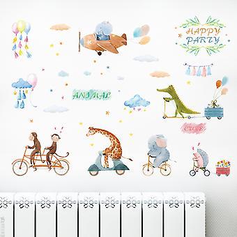 Animal Cycling Games Adesivi murali Decalcomanie domestiche (dimensioni: 110cm X 80cm)
