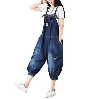 Retro Overalls Loose Jeans Plus Size Bloomers