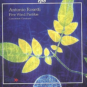A. Rosetti - Antonio Rosetti: 5 viento Partitas [CD] USA importar