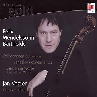 F. Mendelssohn - Mendelssohn: Cello Sonatas; Variations Concertante; Song Without Words [CD] USA import