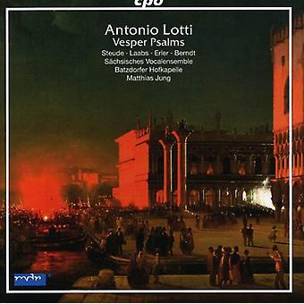 A. Lotti - Antonio Lotti: Importación de Estados Unidos Vesper Salmos [CD]