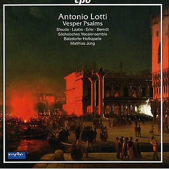 A. Lotti - Antonio Lotti: Vesper Psalms [CD] USA import