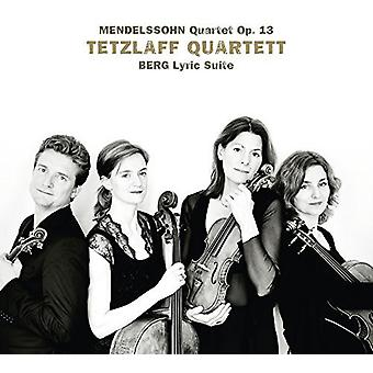 Berg / Tetzlaff Quartet - Lyric Suite [CD] USA import