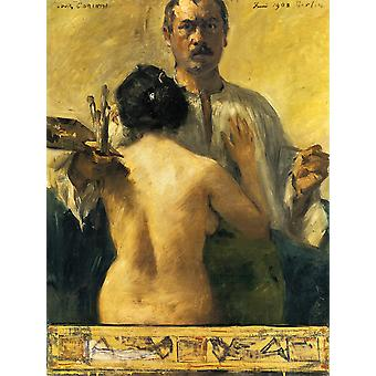 Lovis Corinth - Self-portrait with Model Poster Print Giclee